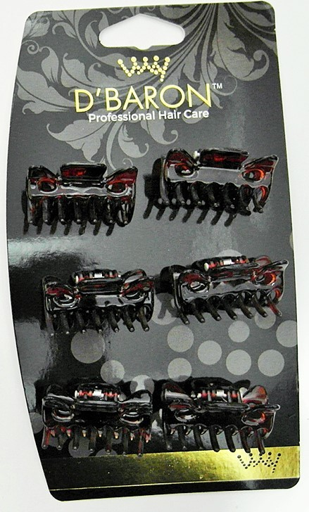 #6010-T - CLAW CLAMPS 4 CM (6)- 12 cards (1 dozen) in a packet