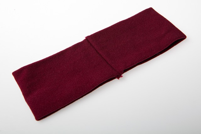 CHA-43BU -64mm BURGANDY HEADBAND STRETCH FABRIC (1) WIDE- 12 headbands (1 dozen) in a packet