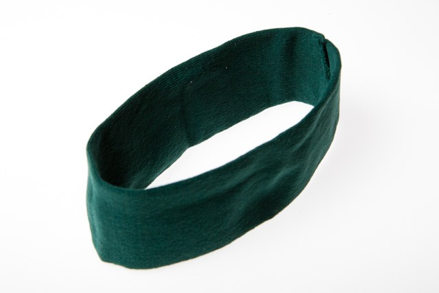CHA-43BG - 64mm GREEN HEADBAND STRETCH FABRIC (1) WIDE- 12 headbands (1 dozen) in a packet