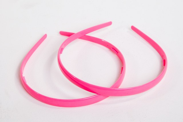 #7239P - HEADBAND NARROW PLASTIC (2)- 12 headbands (1 dozen) in a packet