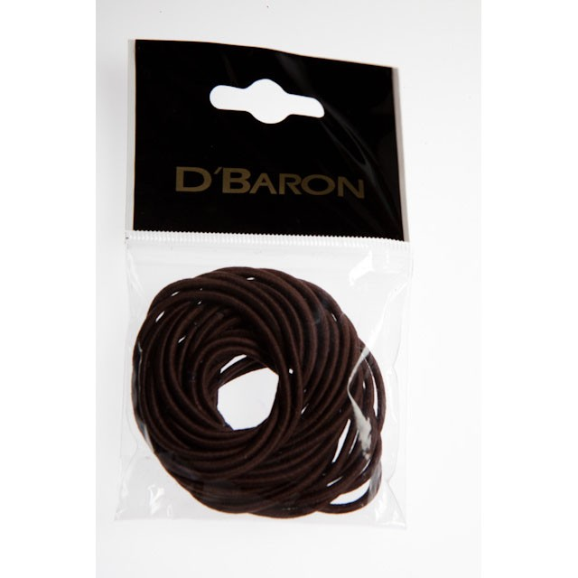 CBS-003-BR - BROWN ELASTICS THIN (24) - 12 packets (1 dozen) in a packet