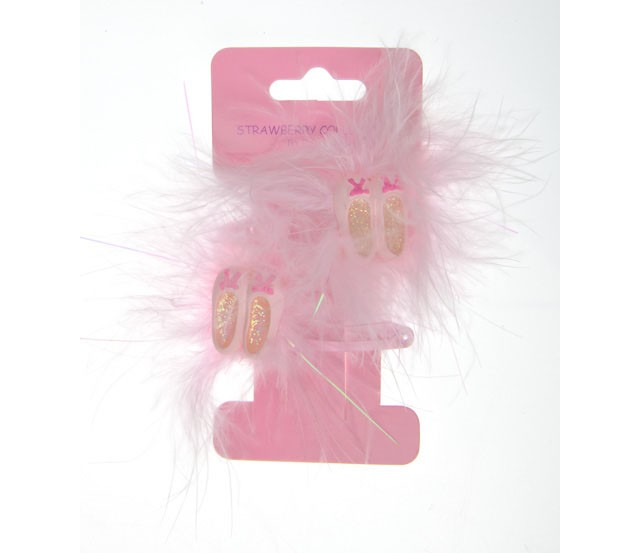 HOT-14543 - BALLET SHOES CLIPS - 12 sets (1 dozen) in a packet