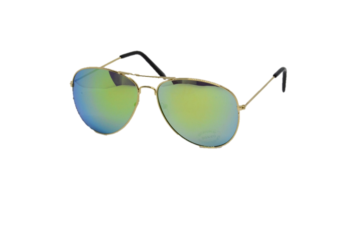 M-020LGG  - LARGE AVIATOR GOLD, GOLD MIRROR LENS
