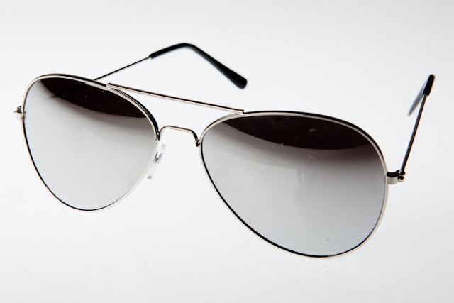 M-020SM - AVIATOR SILVER MIRROR- 12 pairs (1 dozen) in a box