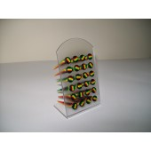 B1035 - FAKE EXPANDERS - RASTA - 24 pcs on a display stand