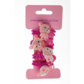 12310 - TEDDY BEAR ELASTICS - 12 cards (1 dozen) in a packet