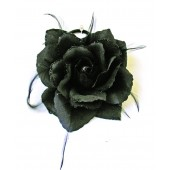 2410274-B - BLACK ELASTICS FLOWERS - 12 flowers (1 dozen) in a box