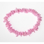 BSQ-7-B - BRACELET - pink clam shell - 12 bracelets (1 dozen) in a packet