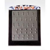 EYE-4 - EYEBROW BARS - ASSORTED PLAIN BAR AND BANANA - 25 pieces on a display tray