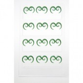 LES1014G - GREEN KORU SHAPE EARRINGS - 12 Pairs on a display tray