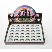 14030 -  RING TRAYS PAINTED MOOD BAND  - 36 Rings (3 dozen) in a display tray