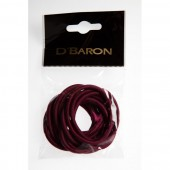 CBH-076-BU - BURGUNDY ELASTICS THICK (12) - 12 packets (1 dozen) in a packet