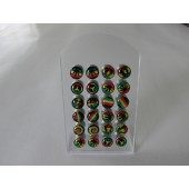 DB127 - FAKE PLUG - RASTA -Stainless Steel - 24 pcs on a display stand
