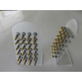 DB161 - FAKE PLUG - BULLET - Gold and Silver Stainless Steel - 24 pcs on a display stand
