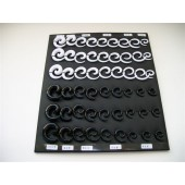 DSPL7000 -SPECIAL PRICE- EAR SPIRALS - ASSORTED SIZES - 54 spirals on a tray.
