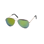 M-020GG  TIKI BLACK - AVIATOR GOLD GOLD MIRROR LENS - 12 pairs (1 dozen) in a box