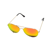 M-020LGR TIKI BLACK - LARGE AVIATOR GOLD, RED MIRROR LENS - 12 pairs (1 dozen) in a box