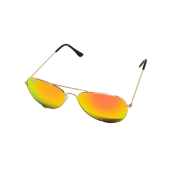 M-020GR  TIKI BLACK - AVIATOR GOLD RED LENS MIRROR - 12 pairs (1 dozen) in a box