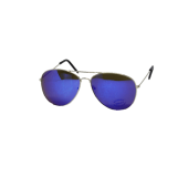 M-020LSB - LARGE AVIATOR SILVER, BLUE MIRROR LENS