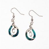 JE00973 - PAUA SHELL EARRINGS MANAIA - 12 Pairs (1 dozen) in a packet