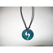 JTN6169 - PAUA THONG NECKLACE - KORU - 12 (1 dozen) in a packet.