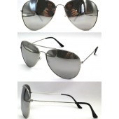 M-020LSS  - LARGE AVIATOR SILVER MIRROR