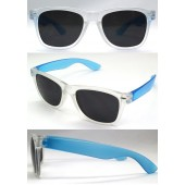 P-060MCC - W/F- CLEAR/BLUE SUNGLASSES