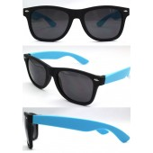P-060RBCT - W/F -   BLACK/ BLUE  SMOKE SUNGLASSES - 12 Pairs in a box